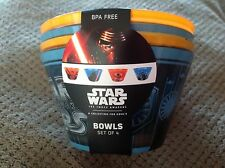 Star Wars Bowls set of 4  by Disney NEW BPA free dishwasher safe for toddlers