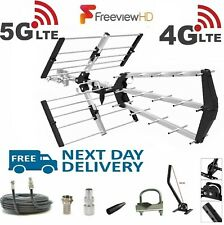 More details for tv aerial 4g + 5g triple boom 48 element freeview digital hd indoor outdoor kit