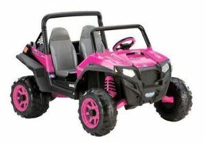Peg Perego Ride On Polaris Ranger Battery Powered Kids Toy 12 Volt Pink Plastic