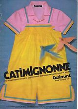 Publicité Advertising 016 1980 Catimini Catimignonne vêtements enfants