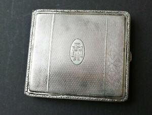 Zigarettenetui Silber 800 innen vergoldet mit Widmung Weihnachten 1929