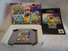 Pokemon Puzzle League - N64 Game - Boxed + Instructions - UK Pal