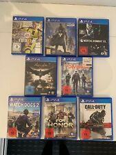 PS4 Spiele sammlung / 8 Spielen in guter Zustand