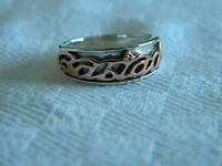 Clogau Silver & 9ct Welsh Gold Cariad Ring size T RRP £189.00