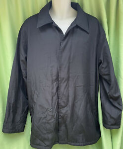 Montecarlo Black Men's Size L Quilted Collared Side Pockets Button Up Jacket