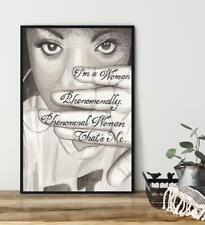 Black Girl Sunflower Art Poster - African American Poster, Black Queen Poster
