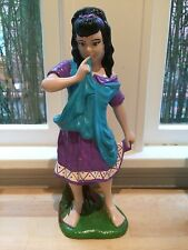 Vintage Ceramic Hand Painted Atlantic Mold Figurine, Fairy Tale Girl Peasant 674