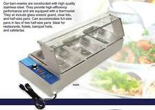 OMCAN FW-CN-0905 3 Well 3 Kettle Commercial Bain-Marie Buffet Food Warmer Server