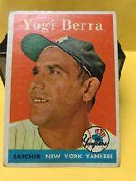 1958 TOPPS #370 YOGI BERRA VG/VG+ NEW YORK YANKEES HOF SEE PICS!