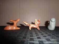 Vintage Miniature Animal Figurines Ceramic & Bone China Japan Animals