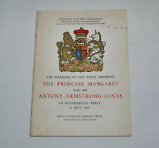 Wedding of Princess Margaret & Antony Armstrong Jones - Approved Souvenir Progra