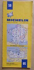 carte MICHELIN 59 SAINT BRIEUX - RENNES 1982