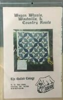Wagon Wheels,Windmills& Country Roads Wallhanging Pattern By The Quilted Cottage