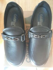 ORTHOFEET CHELSEA 817 WOMENS BLACK SLIP-ON LOAFERS SHOES - SIZE 7 WIDE