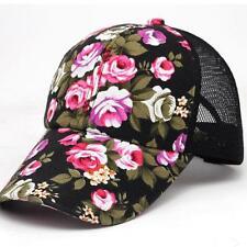 Fashion Women Embroidery Cotton Baseball Cap Girls Snapback Hip Hop Flat Hat
