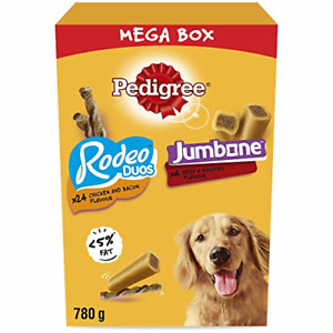 Pedigree Mega Box - Dog Treat Multipack with 24 Rodeo Duos Chicken and Bacon and