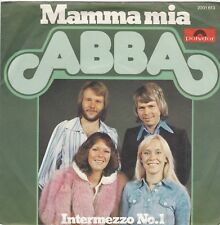 """ABBA """"Mamma Mia"""" & """"Intermezzo No. 1"""" German Record (NM) & Picture Sleeve (NM)"""