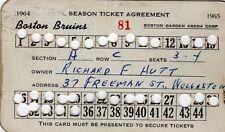 1964-54 Boston Bruins Season Ticket Pass Murray oliver/Johnny Bucyk/Ted Green