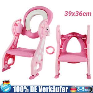 3in1 Kinder Toilettensitz Toilettentrainer Rutschfest WC Sitz Leiter Faltbar DE