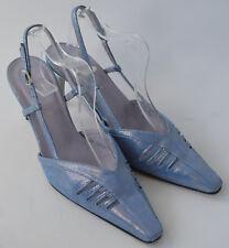 Ladies Van Dal Blue Leather Sling back Occasion Shoes Size Uk 6.5 D