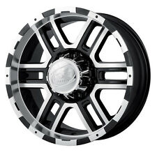 "17"" Ion Black Wheels rims 33"" AT Tires 8x6.5 8 lug Dodge Chevy GMC RAM truck"
