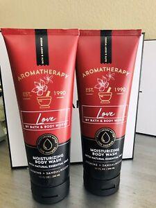 2 Bath and Body Works Aromatherapy LOVE JASMINE SANDALWOOD Moist Body wash gel