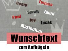 Bügelbild Aufbügler mit Namen o. Wunschtext Buchstaben Namensaufbügler Etiketten