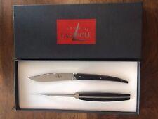 Forge de Laguiole - 2 Original Tafelmesser - Griff Eschenholz - Christian Gion