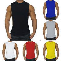 Gym Mens Muscle Tees Sleeveless Shirt Tank Top Bodybuilding Sports Exercise Vest