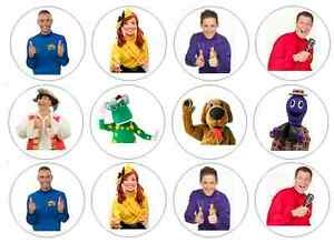 12 The Wiggles Edible Wafer Paper Cupcake Toppers