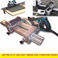 IMT PRO Wet Makita Motor Rail + Bridge Saw + EDGE Profile for Granite-12 Ft Rail