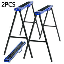 New 2x 780mm 125KG Trestle Saw Non Slip Horse Stands Foldable Carpenter Builder