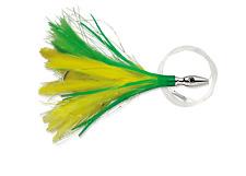 Williamson Flash Feather , Yellow Green, 4 Inch