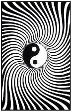 YING YANG - BLACKLIGHT POSTER - 24X36 FLOCKED 1909