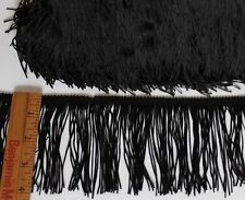 4 inch Black, Chainette  Fringe - By the Yard