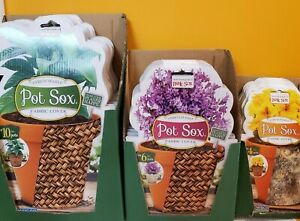 "Pot Sox Stretchable Fabric Pot Covers ( You Choose size & color ) 4, 6, 8 & 10"""