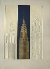 Joseph Robers Radierung mit Prägedruck New York Chrysler Building