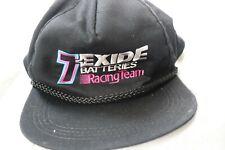 EXIDE Batteries Racing Team Hat Cap Braided Black Snapback
