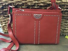Brighton NWT Pretty Tough City Crossbody Leather Organizer Purse/handbag