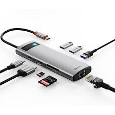 Baseus USB Typ C Hub 4K HDMI RJ45 SD Adapter 100W Ladegerät Für macBook Pro Air