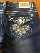 Miss Chic  women's denim blue jeans size 1 #42 Made in USA