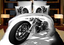 6 tlg. 3D Effekt Bettwäsche Bettbezug Bettgarnitur 155 x 200 cm Harley-Davidson