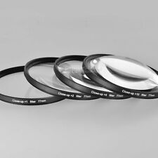 77mm Close Up Nahlinsen Makrolinsen Set +1 +2 +4 +10