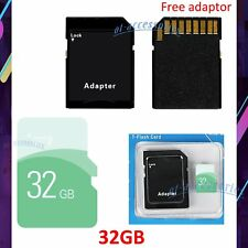 TF Flash Memory Storage Card SD Card 32GB High Speed + Adapter For Phone Tablets