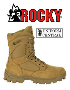 """Rocky Mens Alpha Force 8"""" Coyote Duty Boot - Police - Military -  RKD0060"""