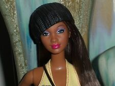 AA Barbie SIS Grace Hybrid Fashionista Doll w Hat Black Skirt Halter Top & More!