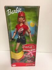Coca-Cola Barbie Doll  2001 Skate Board Barbie
