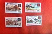 Ascension MINT UNHINGED SET OF 4 160TH ANNIV OF OCCUPATION