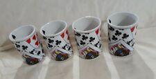 Coffee Cups Mugs Playing Cards Poker Bunco Ceramic