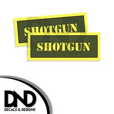 SHOTGUN Ammo Can Decal Gun Ammunition Box Firearm Gloss Sticker AG - 2 Pack